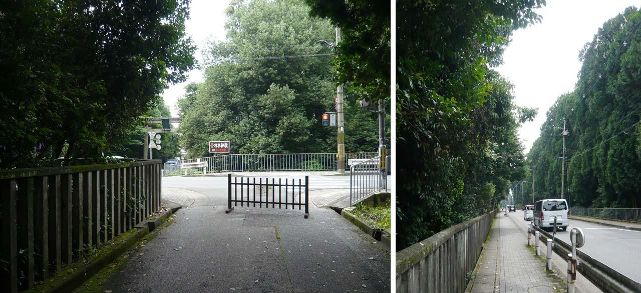 乃木神社への道