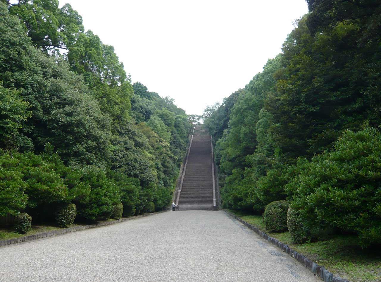 伏見桃山陵 石段