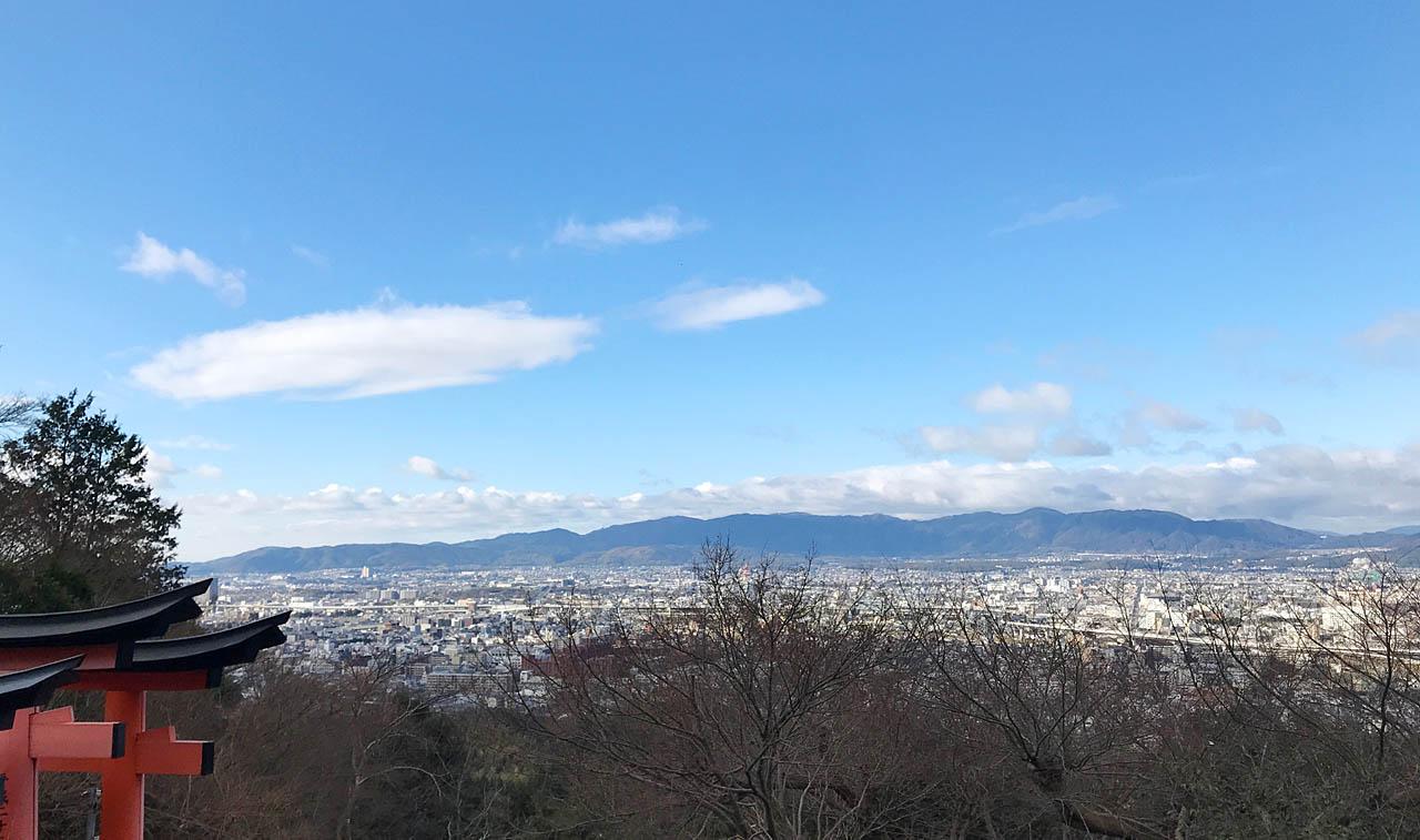 伏見稲荷山からの風景