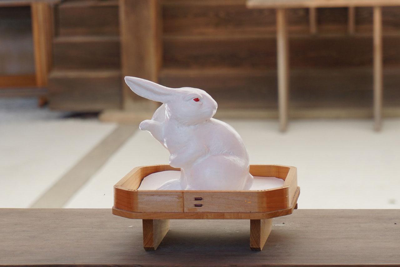 宇治神社 みかえり兎