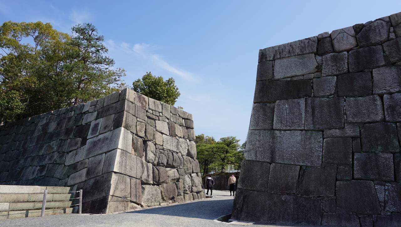 二条城本丸の石垣