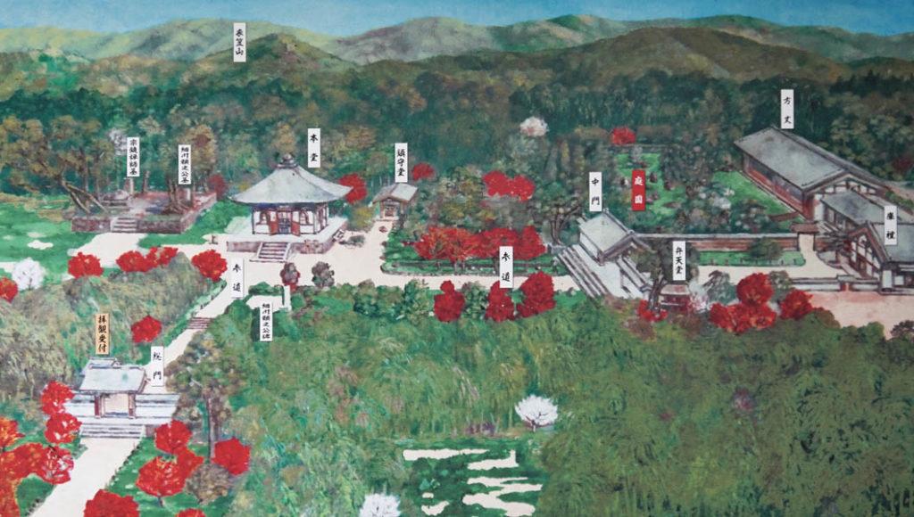 地蔵院 境内地図
