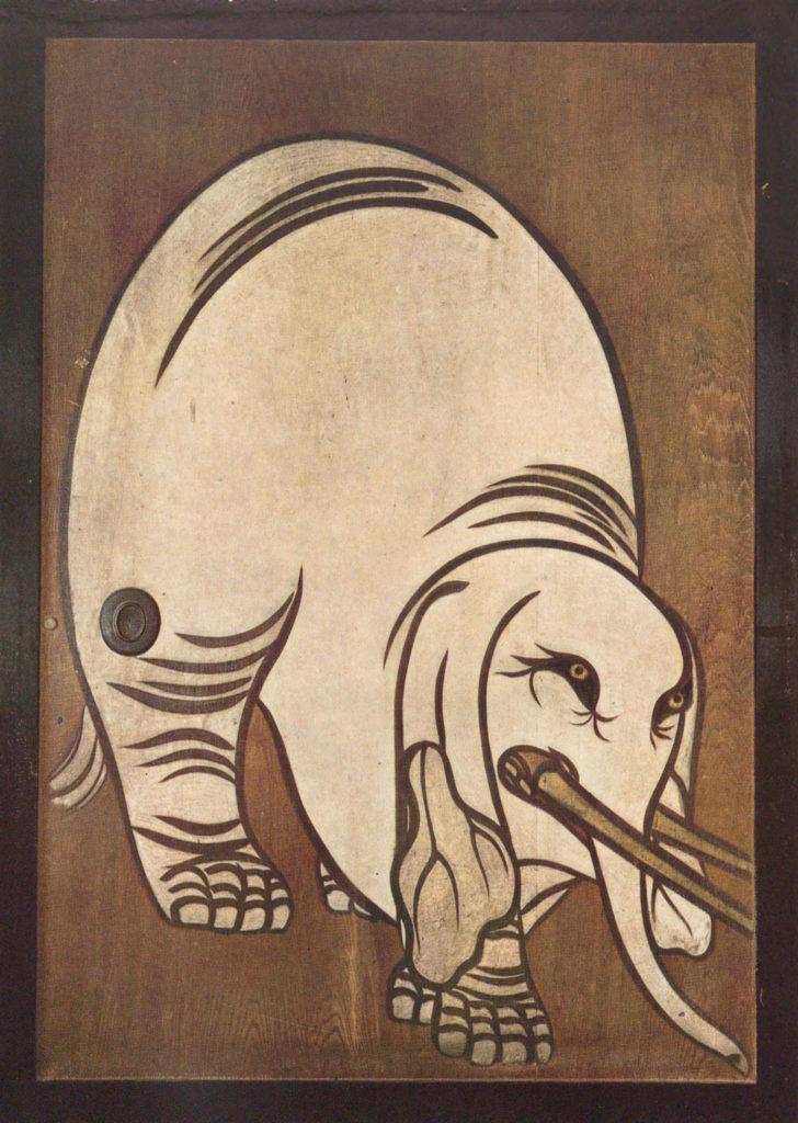俵屋宗達 白象図杉戸