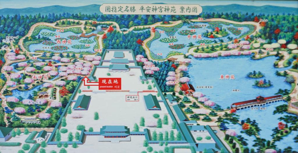神苑 地図