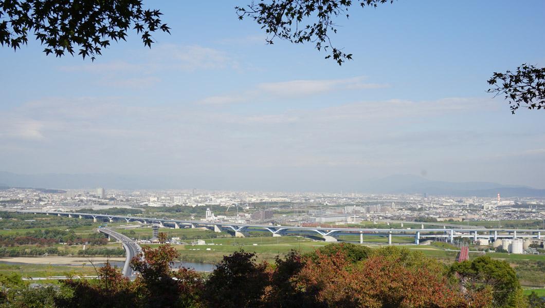 男山 展望台からの眺め