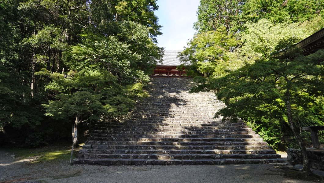 神護寺 金堂への階段