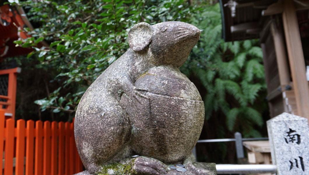 大豊神社 大国社 狛ネズミ