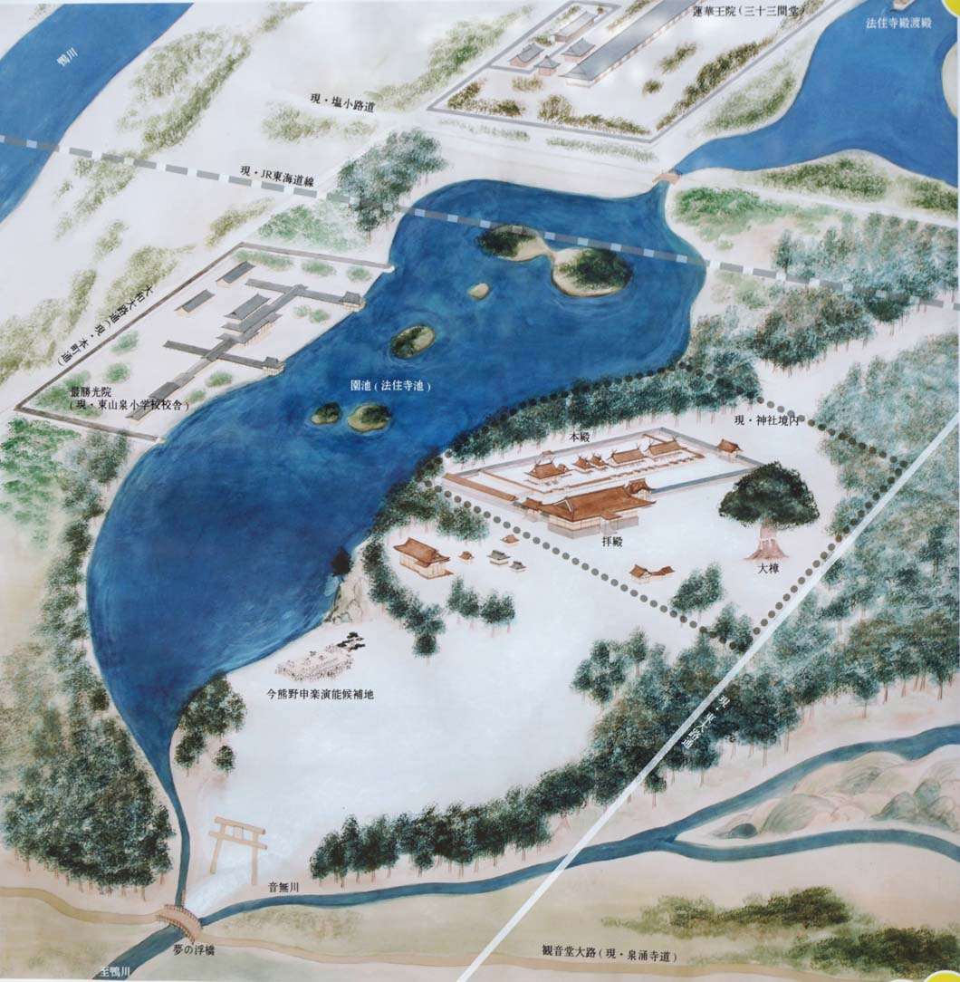 新熊野神社 復元地図