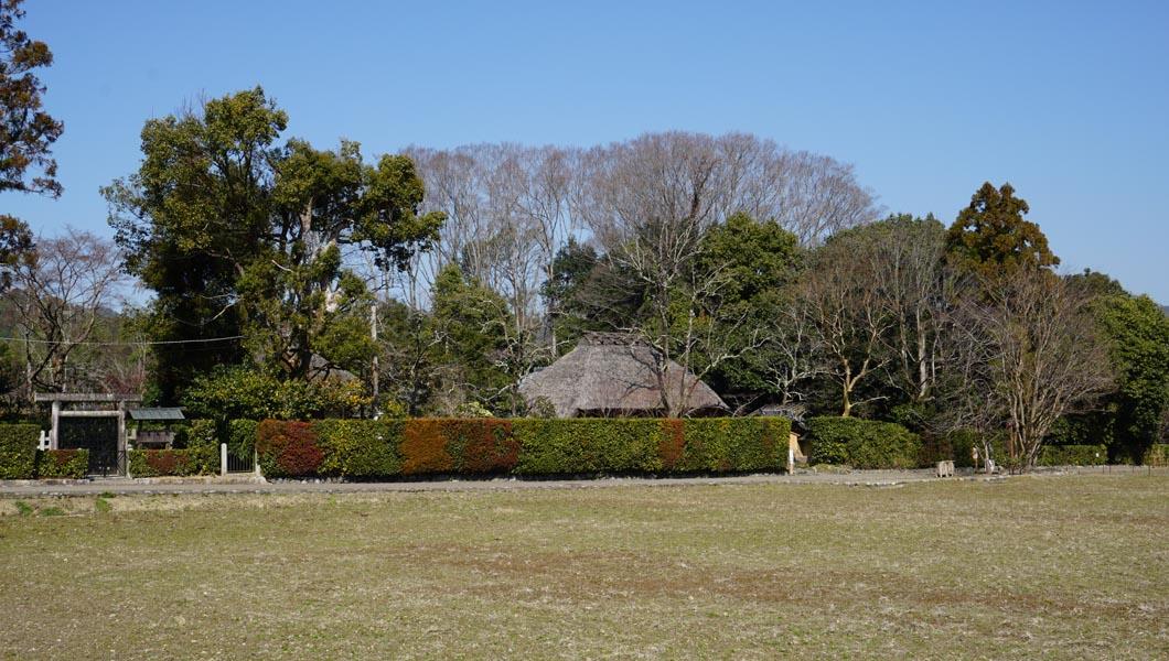 落柿舎 遠景