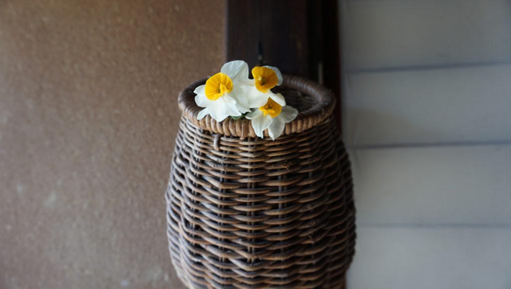 落柿舎 生け花