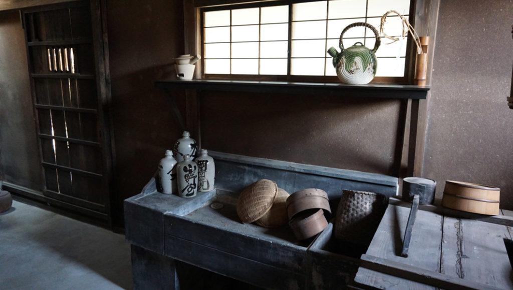 落柿舎 台所