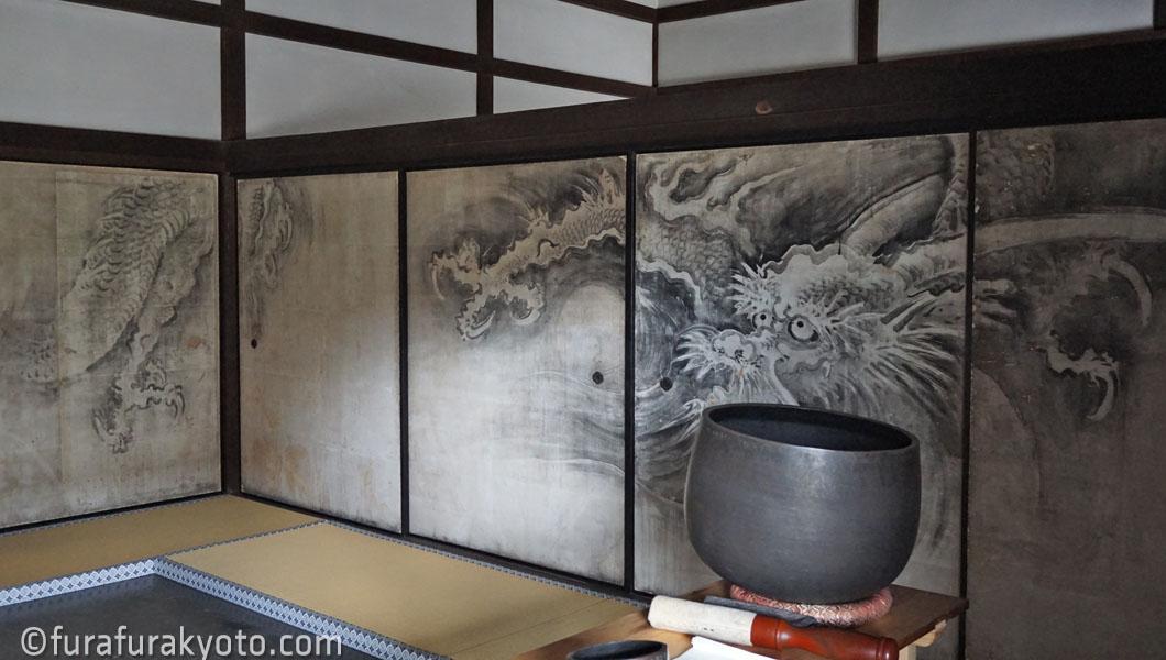龍源院 龍の障壁画