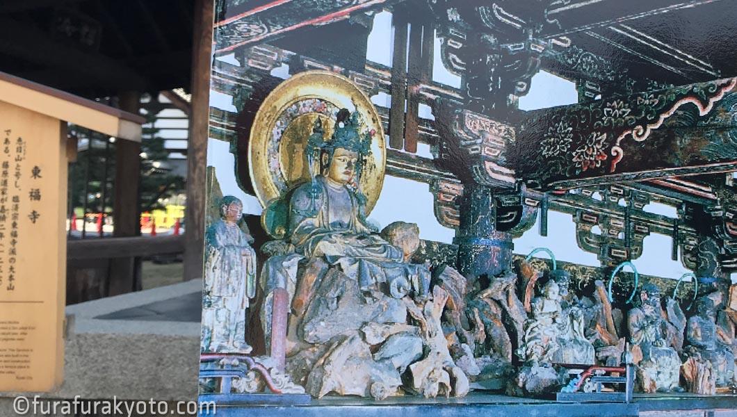 東福寺三門の内部